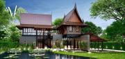 รับออกแบบบ้านทรงไทยประยุกต์